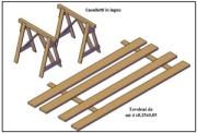 Cavalletti in legno 1