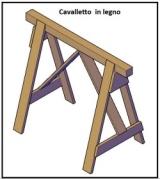 Cavalletto in legno 1