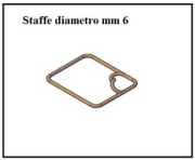 Staffe da 6 mm  1