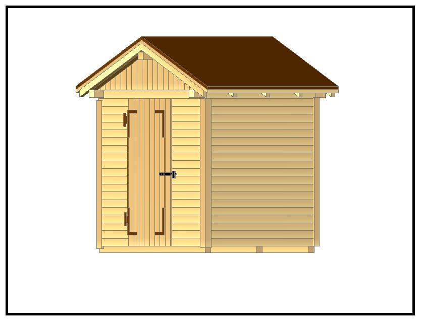Come costruire una bella casetta porta attrezzi per il for Costruire una semplice capanna di legno