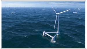 Turbine in mare mosso
