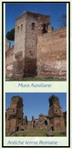 Antiche mura in terracotta fatta a mano 1 1