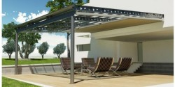 Una pergola in alluminio dal design innovativo.