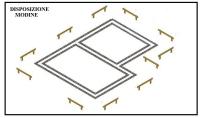 Come tracciare le fondazione di una costruzione, con l'uso delle modine.