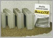 I blocchi per tramezzi, in calcestruzzo alleggerito di argilla espansa.