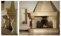 Dei bellissimi camini realizzati in pietra leccese o del Salento.