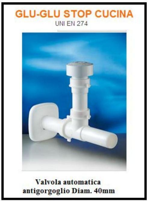Una valvola anti gorgoglio per i sanitari della cucina e del bagno - Gorgoglio scarico bagno ...