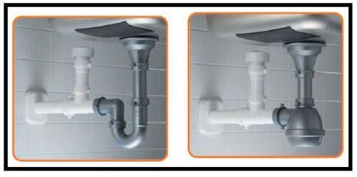 Una valvola anti gorgoglio per i sanitari della cucina e - Sifone lavello cucina ...