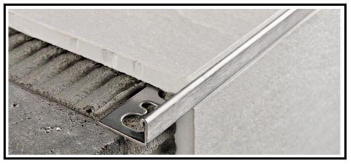 Profili tecnici metallici di rifinitura per rivestimenti e pavimenti - Angolari per piastrelle ...