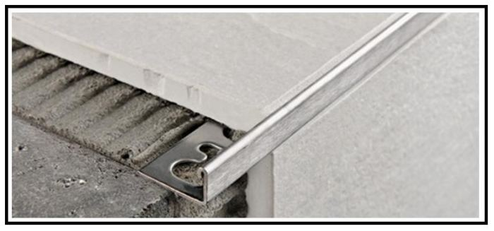 Profili tecnici metallici di rifinitura per rivestimenti e - Listelli decorativi per bagno ...