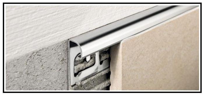 Profili tecnici metallici di rifinitura per rivestimenti e - Profili piastrelle bagno ...