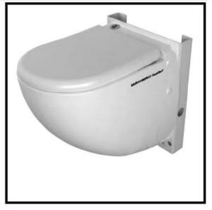 Un vaso wc in ceramica con trituratore integrato 1