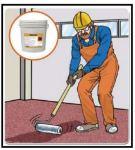 Verniciatura di pavimenti con resina monocomponente 1