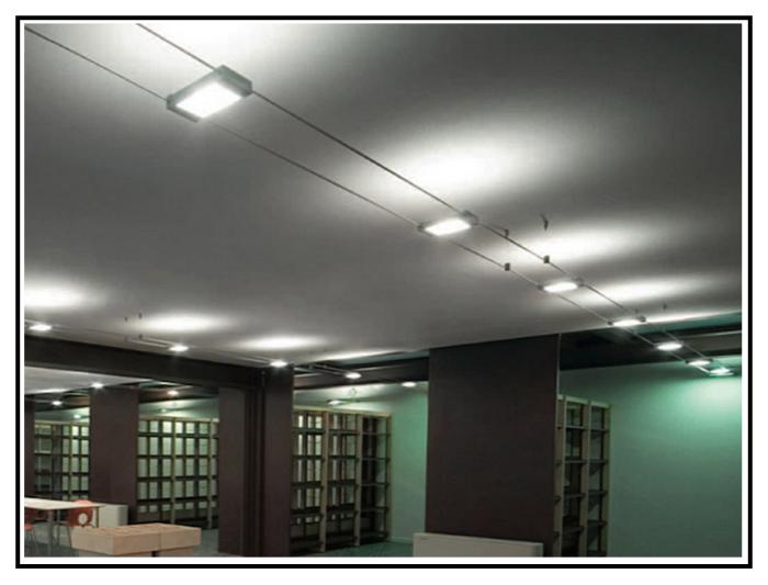 Faretti Su Cavo: Cavo faretti bassa tensione illuminazione su cavi led rotonda in.