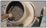 5 impasto gira nella betoniera 2