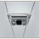 AUna illuminazione interna a faretti su binari in acciaio