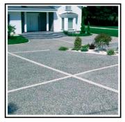Realizzazione di una pavimentazione in sasso lavato 1
