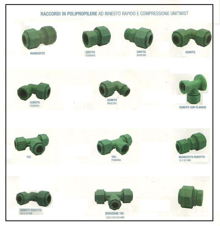 Tubazione in polipropilene con raccordi a innesto rapido for Raccordo da pvc a rame