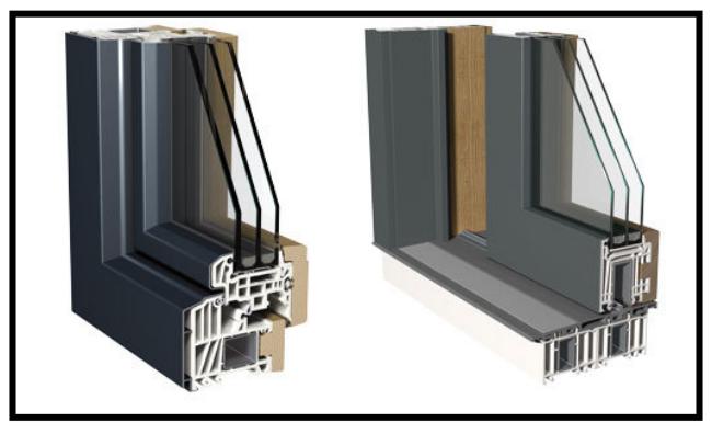 Un ottima combinazione nelle finestre di alluminio pvc for Prezzi finestre pvc