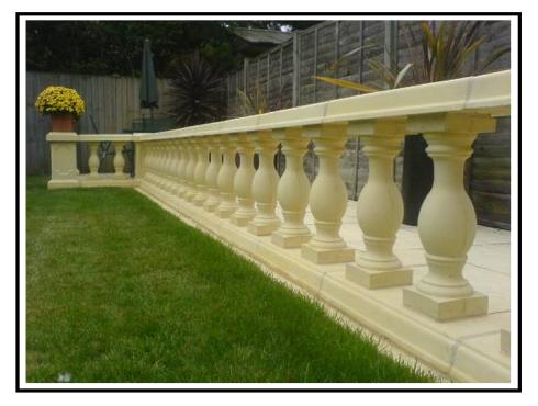 Balaustre tradizionali in calcestruzzo per terrazze e giardini for Terrazze e giardini