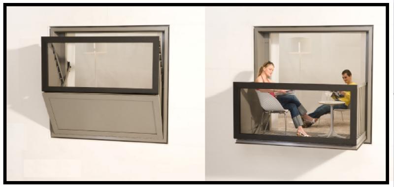 Un sistema a telaio per trasformare una finestra in un balcone - Finestra che non si chiude ...