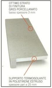 Un davanzale coibentato in gres porcellanato per cappotti termici 1