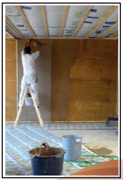 Posa a secco di pannelli interni in terra cruda - Isolanti per pavimenti interni ...
