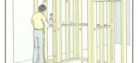Costruzione di pareti non allineate con struttura in legno