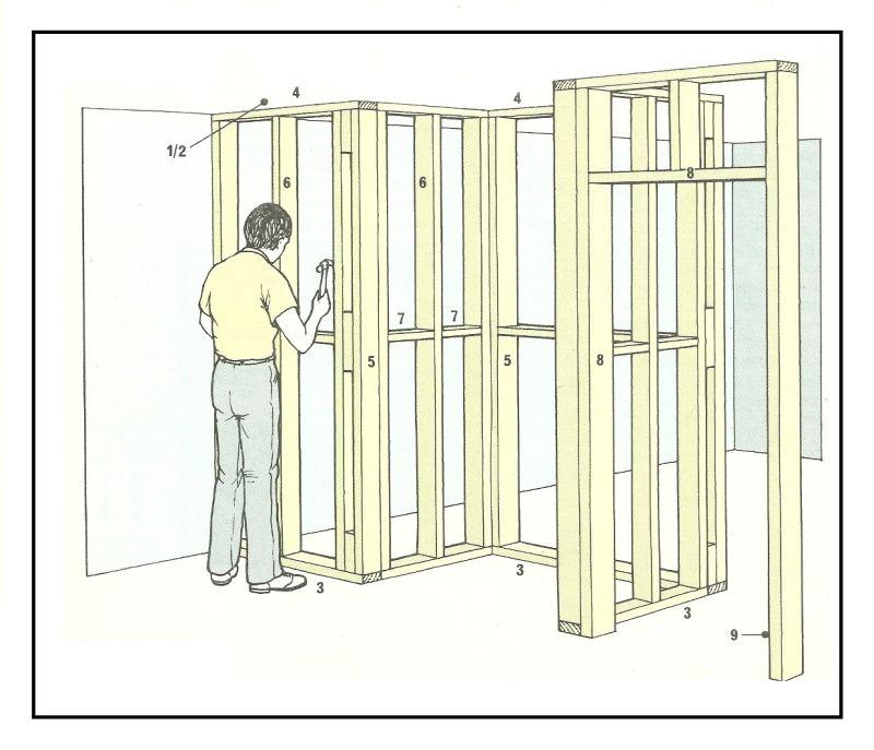 Costruzione di pareti non allineate con struttura in legno for Legno per pareti interne