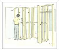Costruzione di pareti non allineate con struttura in legno 1