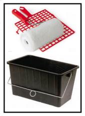 bacinella rullo e griglia plastica 1