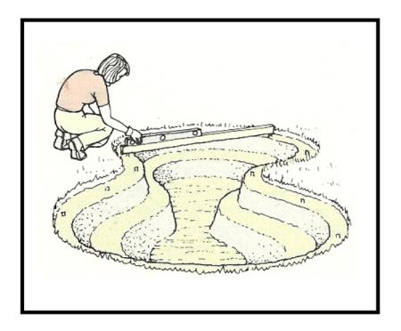 Costruzione di una vasca da giardino con telo flessibile for Vasca giardino