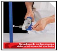 Come riparare un tubo di polipropilene forato accidentalmente nel muro 1