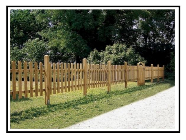 Tipi di recinzioni loro utilit e scelta - Recinzioni da giardino in legno ...
