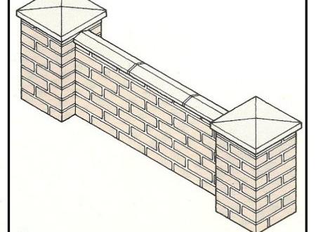 Costruzione dei pilastri di una recinzione in muratura di for Costo dei piani di costruzione