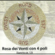 A Rosoni in mosaico realizzati in ciottolato e marmi anticati