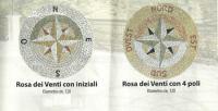Rosoni in mosaico realizzati in ciottolato e marmi anticati 1