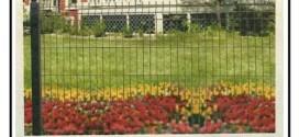Installazione di recinzione perimetrale con rete a maglie di acciaio