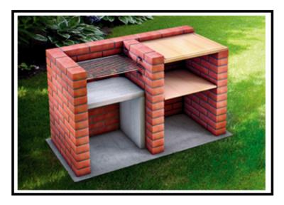 Un bel barbecue realizzato con mattoni a facciavista for Barbecue in muratura fai da te