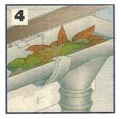 Come riparare e fare la manutenzione della grondaia in PVC 1