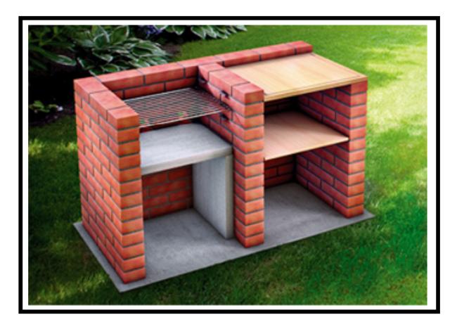Un Bel Barbecue Realizzato Con Mattoni A Facciavista