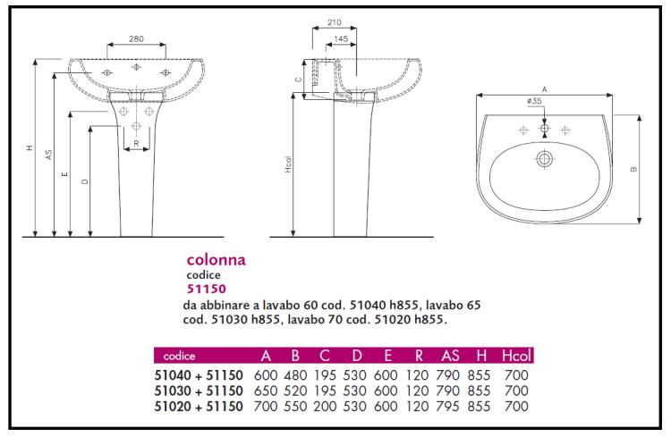 Predisposizione impianto scarico e idrico di lavabo e piatto doccia - Misure impianto idraulico bagno ...