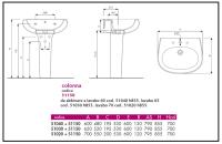 2 Lavabo a colonna disegni 1