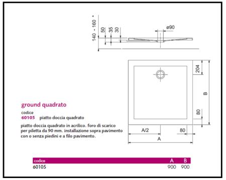 Predisposizione impianto scarico e idrico di lavabo e - Misure impianto idraulico bagno ...