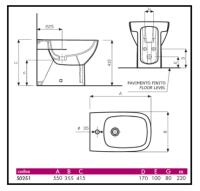 4 Predisposizione di scarico e attacchi idrici di vaso e bidet 1