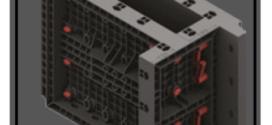 Una cassaforma in ABS per pilastri riutilizzabile e modulare