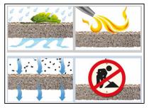 Calcestruzzo drenante, fonoassorbente a elevate prestazioni, ideale per pavimentazioni stradali 1