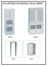 Pulsantiera antivandalo in alluminio 1
