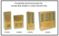 Pulsantiere artistiche in Acciaio PVD 1