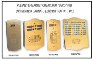 Pulsantiere artistiche in acciaio -DECO- PVD 1
